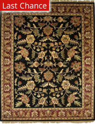 Org Destin Rena Black/burgundy Area Rug
