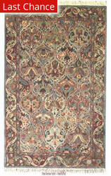 ORG Handtufted Panel Kerman Pastel Area Rug