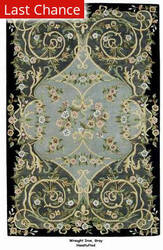 ORG Handtufted Wrought Iron Gray/Black Area Rug