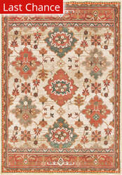 Rugstudio Sample Sale 195401R Ivory - Orange Area Rug