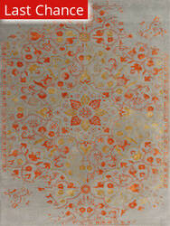Rugstudio Sample Sale 185354R Silver - Orange Area Rug