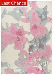 Rugstudio Sample Sale 205359R Beige - Pink Area Rug