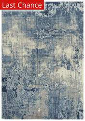 Rugstudio Sample Sale 196548R Blue - Ivory Gray Area Rug