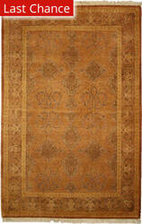 Rugstudio Sample Sale V-1712 Gold - Walnut Area Rug