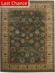 Rugstudio Sample Sale Ushak Green - Beige Area Rug
