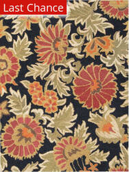 Rugstudio Sample Sale Floral-C Black Area Rug