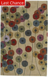Rugstudio Sample Sale Dots Circle Multi Area Rug