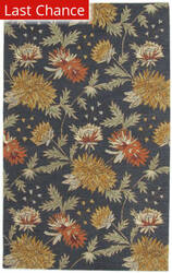 Rugstudio Sample Sale Floral-A Blue Area Rug