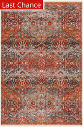 Rugstudio Sample Sale Vtp470j Aqua - Orange Area Rug