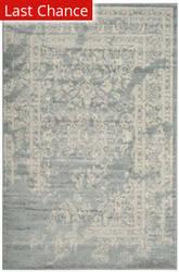 Rugstudio Sample Sale 192425R Slate - Ivory Area Rug