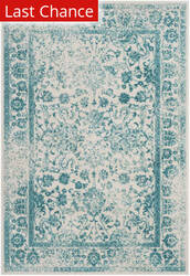 Rugstudio Sample Sale 192433R Ivory - Teal Area Rug