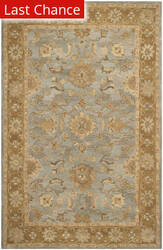 Rugstudio Sample Sale 111899R Light Blue / Taupe Area Rug