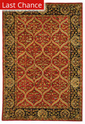 Rugstudio Sample Sale 46279R Red / Navy Area Rug