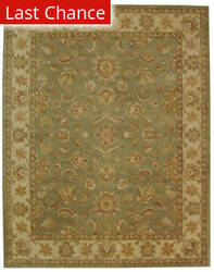 Rugstudio Sample Sale 49638R Green / Gold Area Rug
