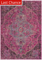 Rugstudio Sample Sale 192508R Fuchsia - Anthracite Area Rug