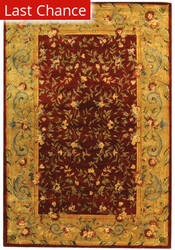 Rugstudio Sample Sale 46318R Red / Dark Beig Area Rug