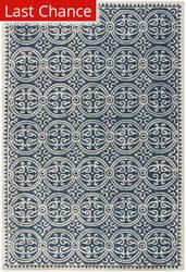 Rugstudio Sample Sale 80394R Navy Blue / Ivory Area Rug