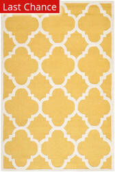 Rugstudio Sample Sale 94158R Gold / Ivory Area Rug