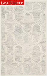 Rugstudio Sample Sale 154991R Light Grey - Ivory Area Rug