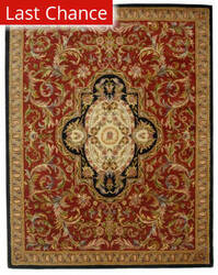 Rugstudio Sample Sale 49675R Red / Black Area Rug