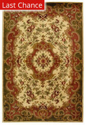 Rugstudio Sample Sale 49684R Ivory / Green Area Rug