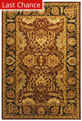 Rugstudio Sample Sale 49688R Rust / Black Area Rug