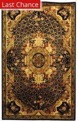 Rugstudio Sample Sale 49705R Black / Gold Area Rug