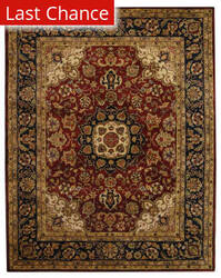 Rugstudio Sample Sale 49715R Burgundy / Navy Area Rug