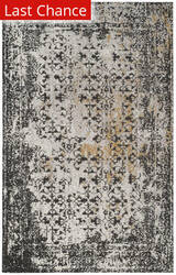 Rugstudio Sample Sale 166188R Black - Silver Area Rug