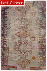Rugstudio Sample Sale 181982R Light Grey - Purple Area Rug