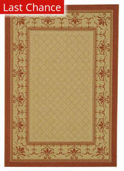 Rugstudio Sample Sale 98647R Natural / Terracotta Area Rug
