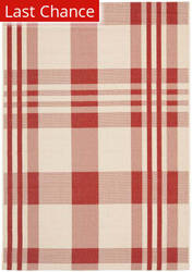 Rugstudio Sample Sale 98947R Red / Bone Area Rug