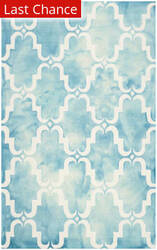 Rugstudio Sample Sale 143288R Turquoise - Ivory Area Rug