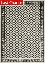 Rugstudio Sample Sale 100532R Ivory / Black Area Rug