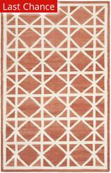 Rugstudio Sample Sale 80561R Red / Ivory Area Rug