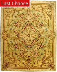 Rugstudio Sample Sale 46688R Beige / Light Gold Area Rug