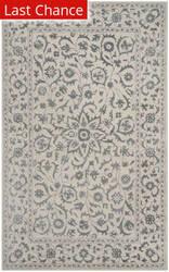 Rugstudio Sample Sale 166324R Silver - Ivory Area Rug