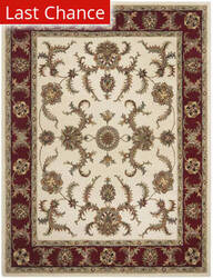 Rugstudio Sample Sale 80583R Ivory / Red Area Rug