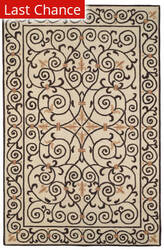 Rugstudio Sample Sale 46350R Ivory / Dark Brown Area Rug