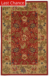 Rugstudio Sample Sale 49890R Red / Ivory Area Rug