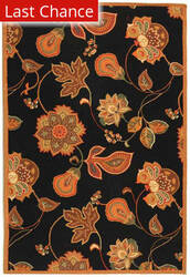 Rugstudio Sample Sale 49908R Black / Orange Area Rug