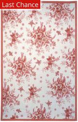 Rugstudio Sample Sale 49938R Ivory / Rose Area Rug