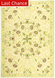 Rugstudio Sample Sale 49972R Ivory / Green Area Rug