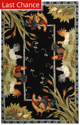 Rugstudio Sample Sale 46447R Black Area Rug