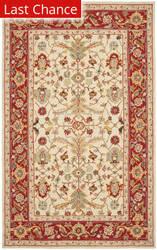 Rugstudio Sample Sale 46473R Ivory / Red Area Rug