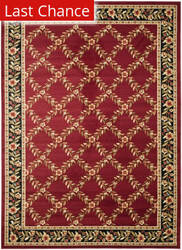 Rugstudio Sample Sale 63182R Red / Black Area Rug