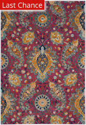 Rugstudio Sample Sale 166389R Fuchsia - Gold Area Rug