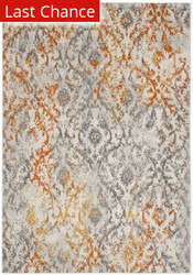 Rugstudio Sample Sale 166395R Cream - Orange Area Rug