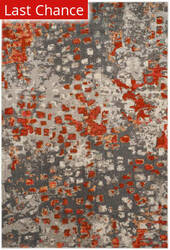 Rugstudio Sample Sale 166405R Grey - Orange Area Rug