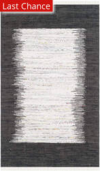 Rugstudio Sample Sale 112111R Ivory / Black Area Rug